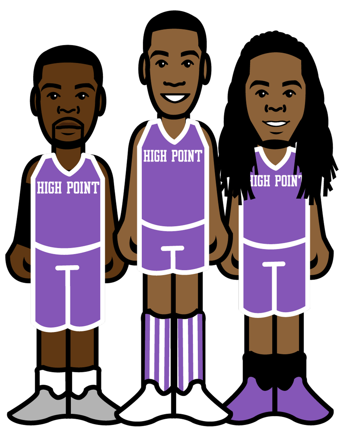 The basketball team clipart svg library Imaginary All-Time Big South Conference 3-on-3 Basketball Tournament ... svg library