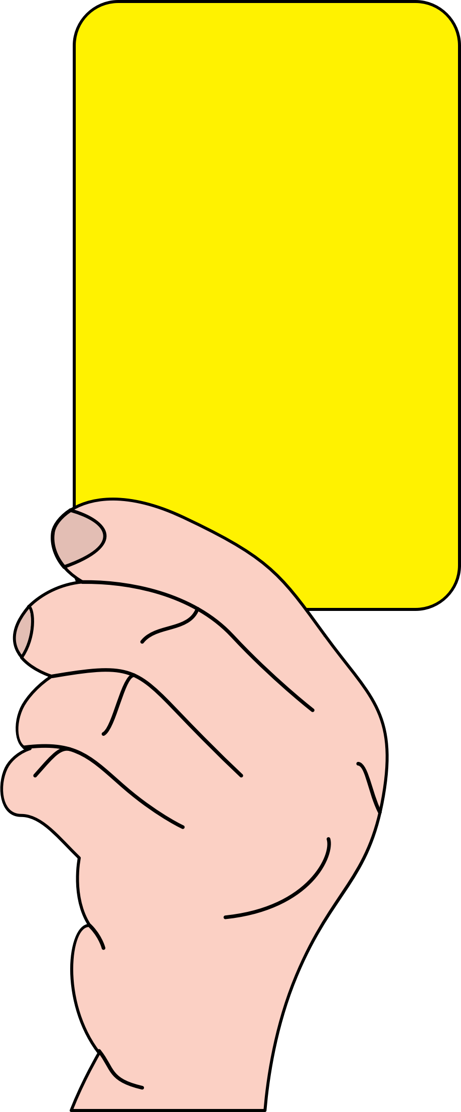 Referee football clipart graphic royalty free library Clipart - Referee showing yellow card graphic royalty free library
