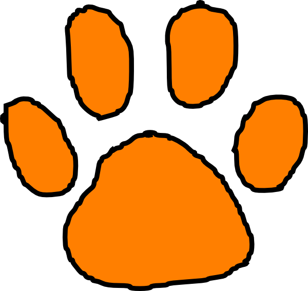Clemson football clipart jpg royalty free stock Tiger Paw Print Stencil - ClipArt Best | baby | Pinterest | Tigers ... jpg royalty free stock