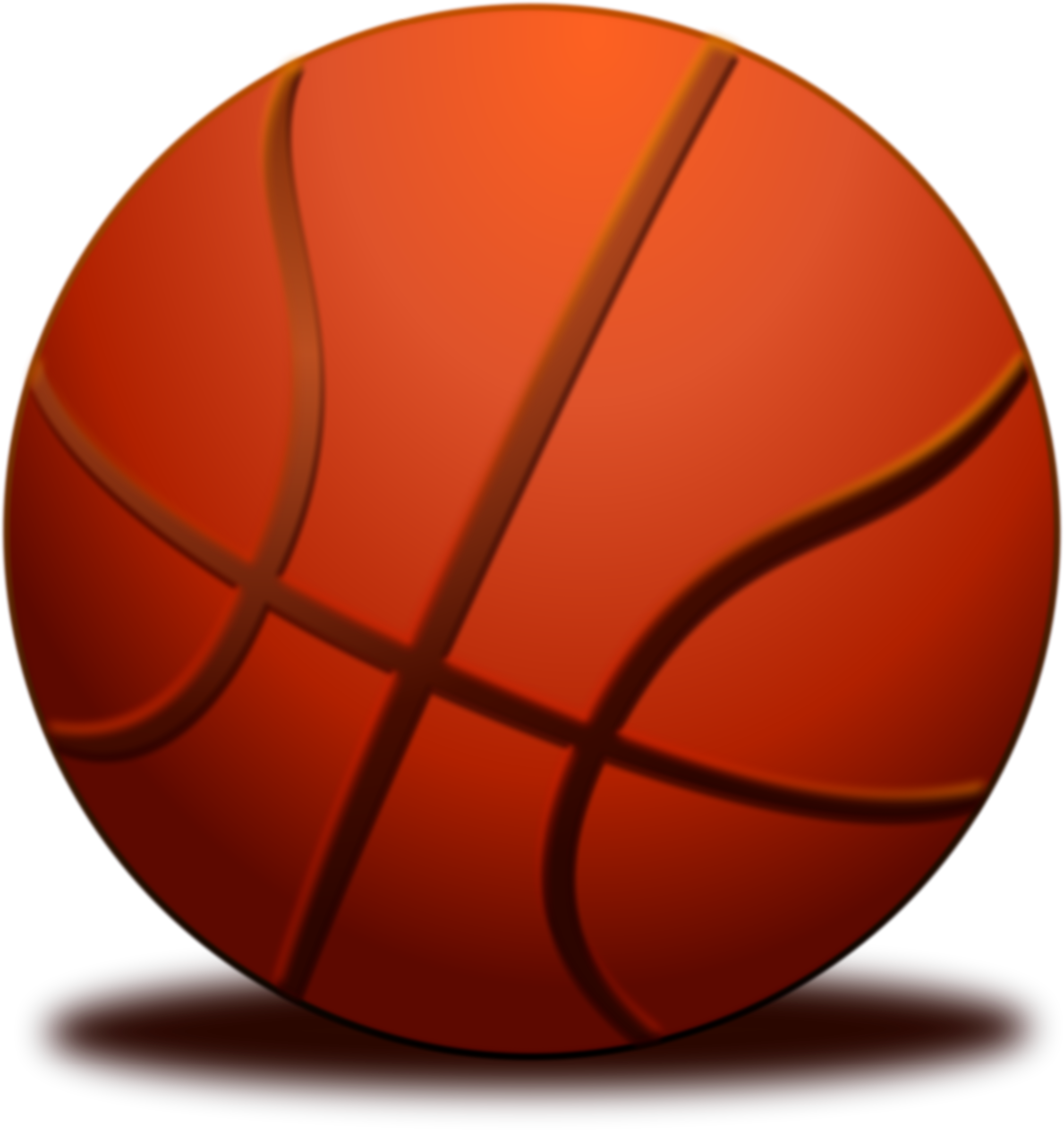 Basketball shadow clipart vector freeuse Clipart - Ball Basketball vector freeuse