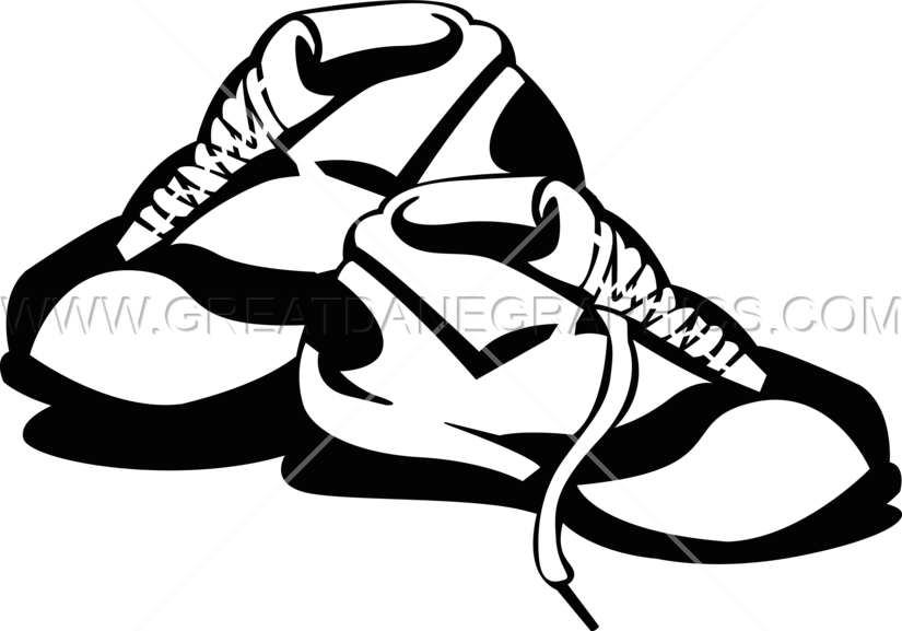 Basketball shoes drawing black and white clipart png royalty free stock Basketball Shoes | Production Ready Artwork for T-Shirt Printing png royalty free stock