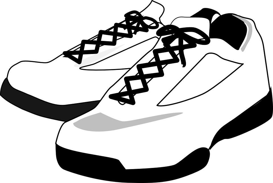 Basketball shoes black and white clipart graphic library Shoe Drive Announcement | American Legion Auxiliary Unit 146 graphic library