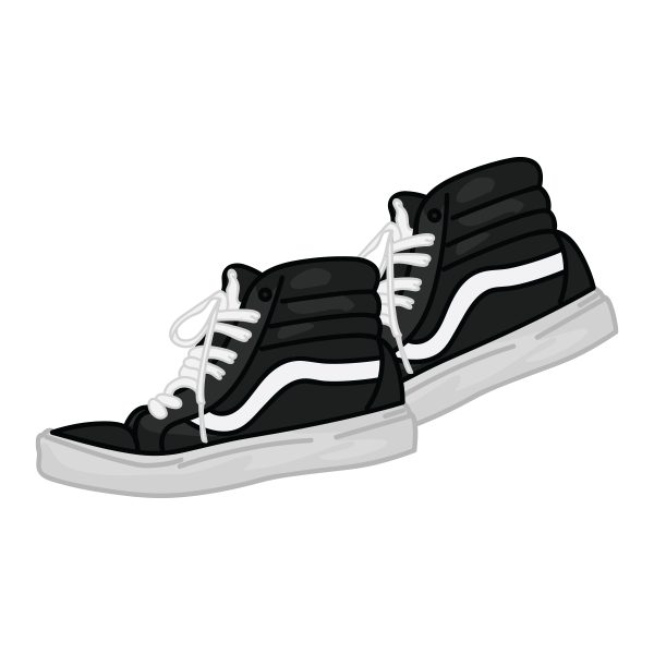Basketball shoes from above clipart black and white vector download Morgan L. Johnson - Illustrations vector download