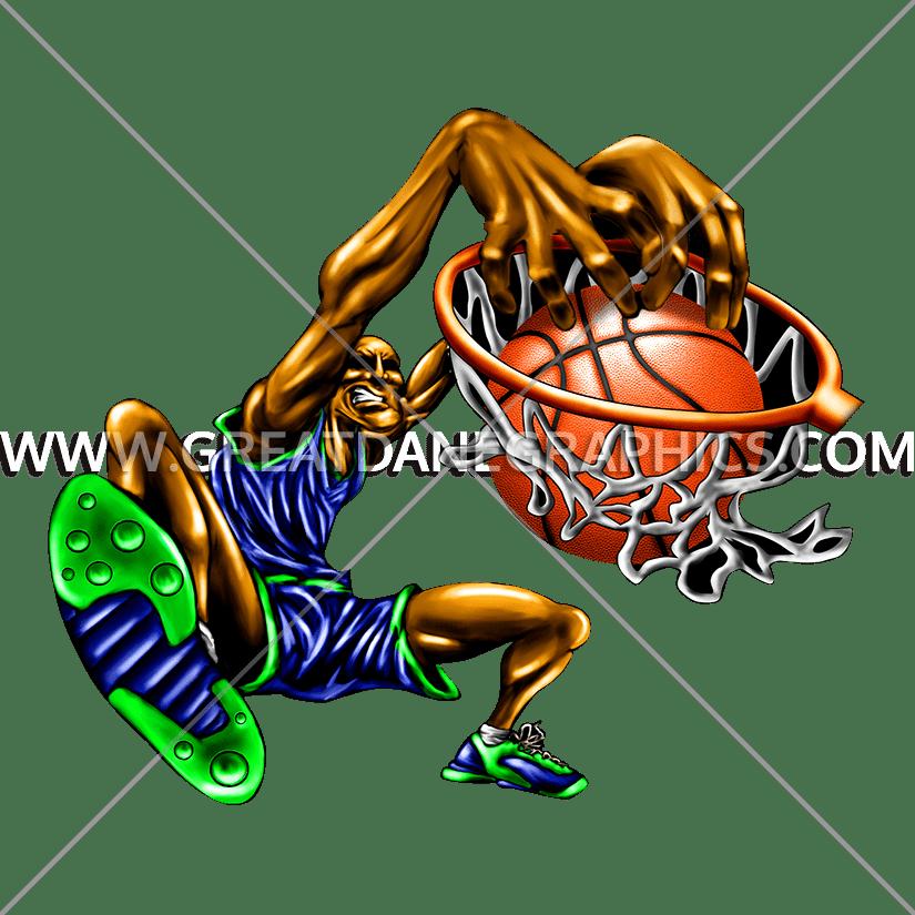 Basketball slam dunk clipart banner royalty free Slam Dunk   Production Ready Artwork for T-Shirt Printing banner royalty free