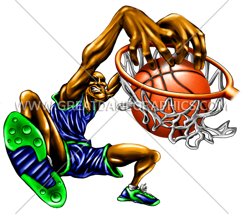 Basketball slam dunk clipart clip black and white download Slam Dunk   Production Ready Artwork for T-Shirt Printing clip black and white download