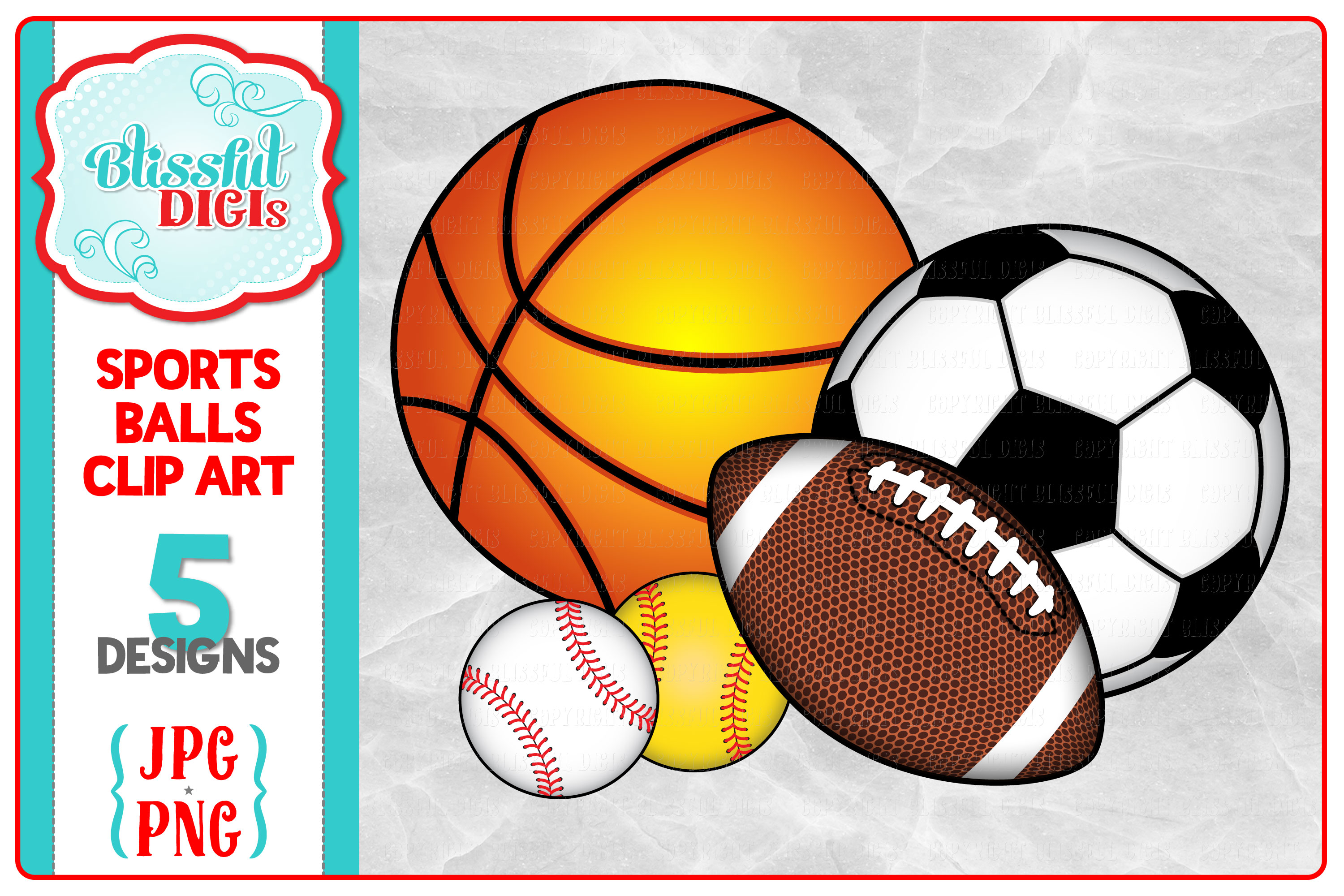 Basketball soccer ball clipart