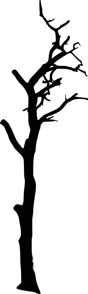 Heart carved in tree clipart vector freeuse library 10 Spooky Dead Tree Silhouette (PNG Transparent) Vol. 2 | OnlyGFX.com vector freeuse library