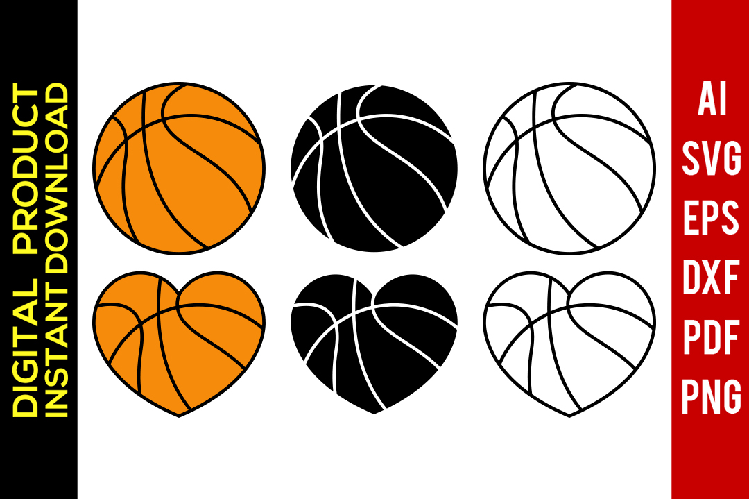 Basketball svg clipart png freeuse library Basketball svg   Basketball Outline   Basketball Silhouette   Vector    Clipart   Svg Files   Png   Eps   Dxf   Pdf   Cricut   Cut File png freeuse library