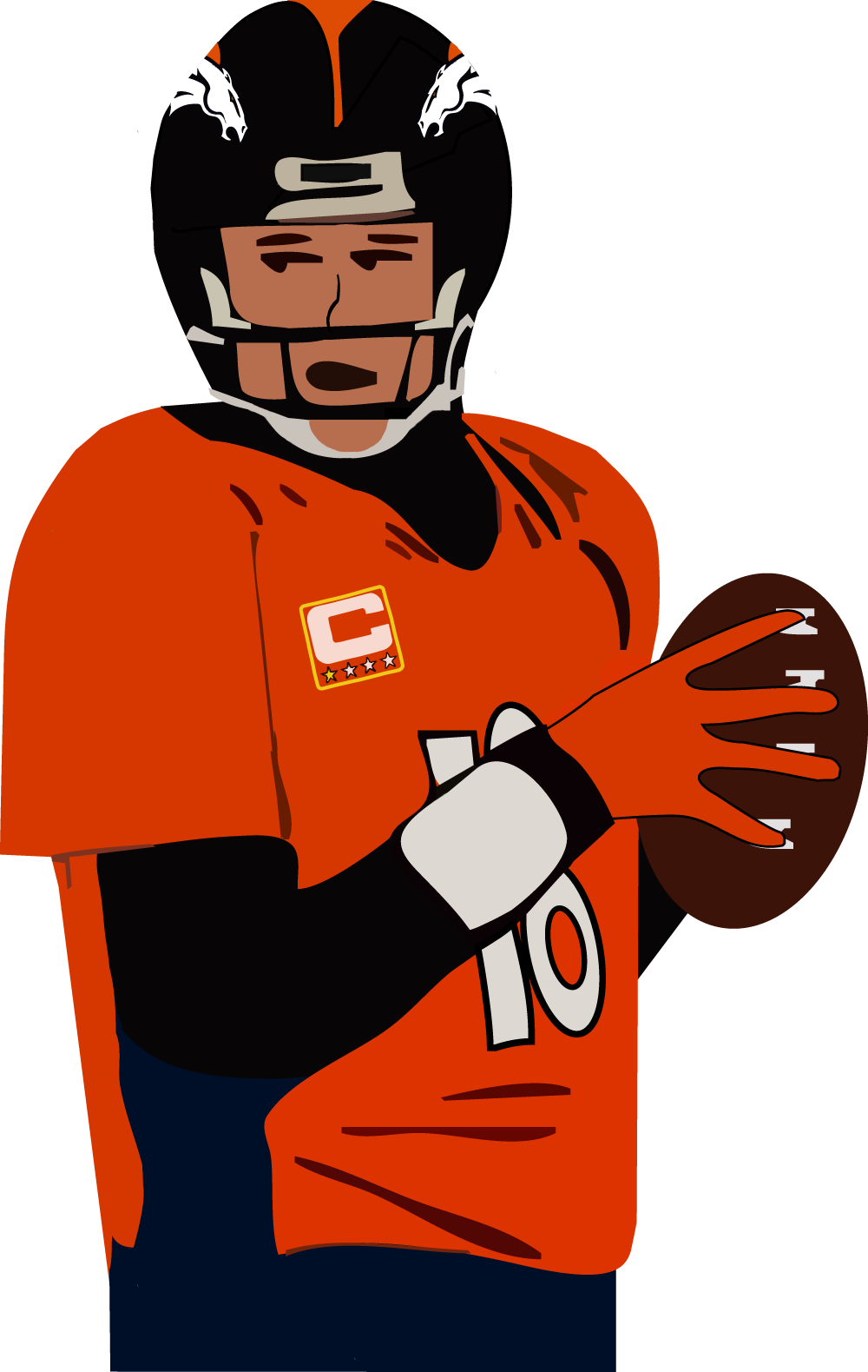 Pitman panthers basketball clipart vector stock Super Bowl 50 Preview: Panthers vs. Broncos with Gazette and Star ... vector stock