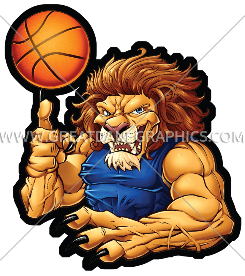 Basketball video clipart clip art royalty free stock Basketball Lion | Production Ready Artwork for T-Shirt Printing clip art royalty free stock