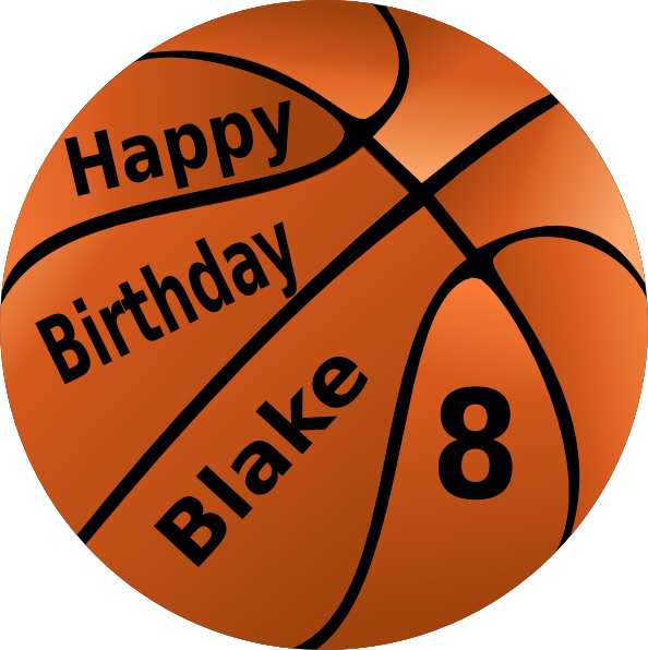 Basketball whistle clipart clip free Happy Birthday Basketball Clip Art at Clker.com - vector clip art ... clip free