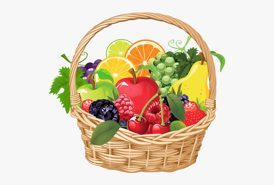 Baskets of love clipart royalty free download Basket Of Fruits Clipart - Animated Basket Of Fruits #63061 - Free ... royalty free download