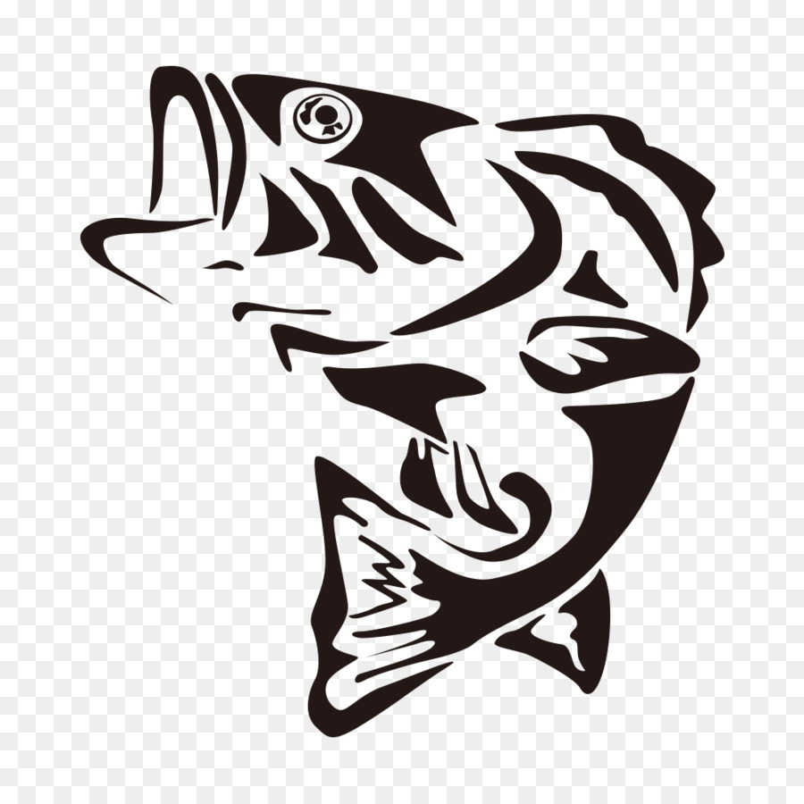 Cartoon fish clipart black and white transparent background picture library stock Fishing Cartoon png download - 1000*1000 - Free Transparent ... picture library stock