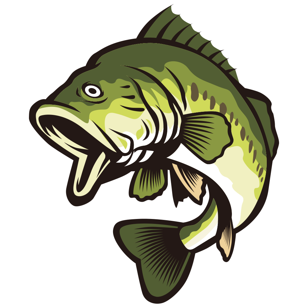 Bass fish vector clipart banner free library Largemouth bass Clip art - Open your mouth and green fish 1000*1000 ... banner free library