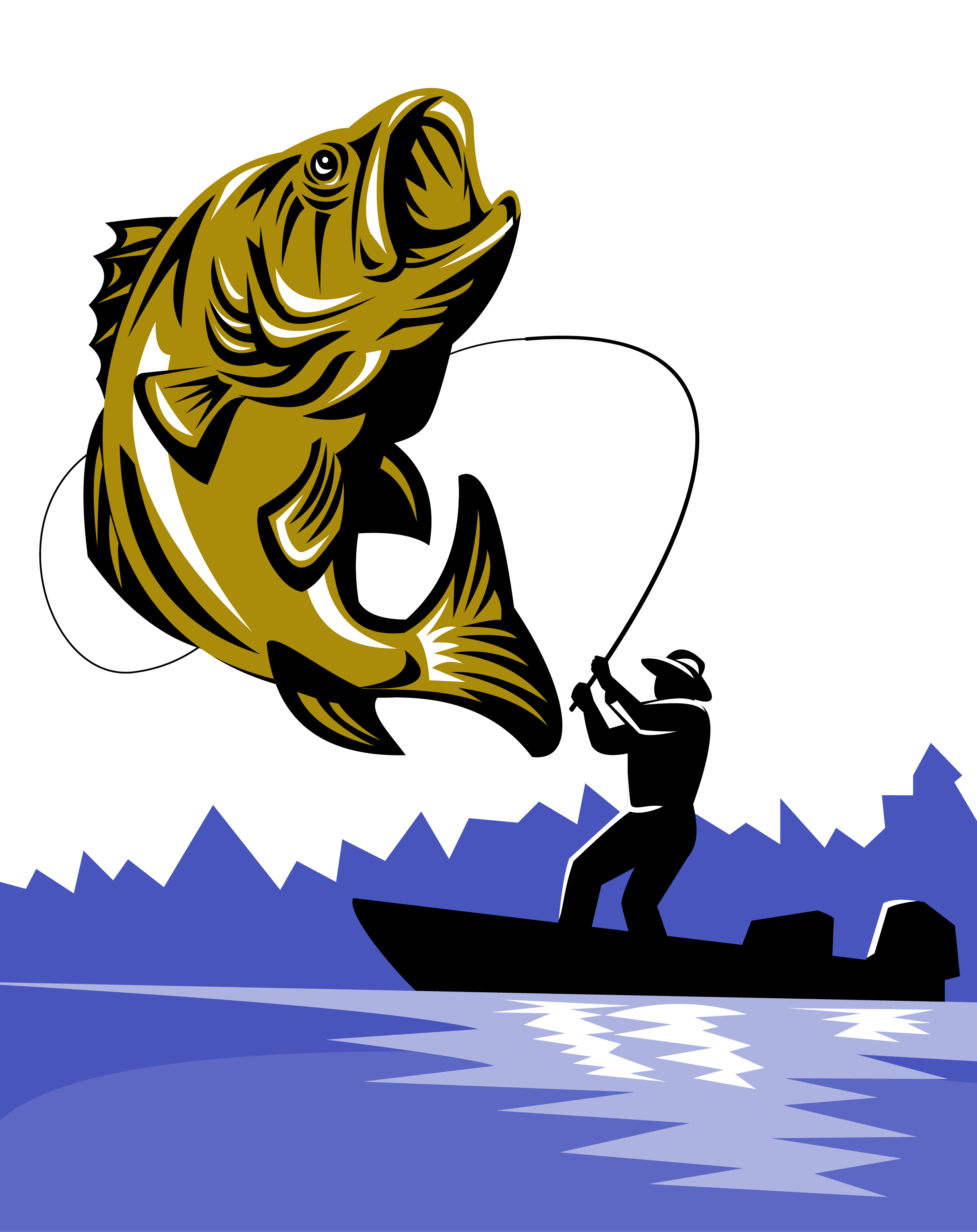 Bass fish clipart png picture royalty free download Bass fishing Fishing rod Fly fishing - Fishing rods 2427*3058 ... picture royalty free download