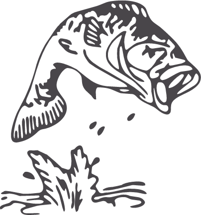 Bass fish outline clipart clip black and white download Largemouth Bass Fish Outline | DIY Crafts For Down Time | Fish ... clip black and white download