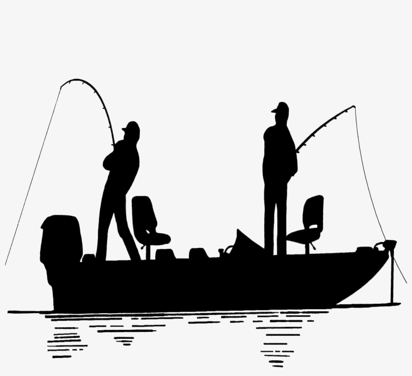 Bass fishing boat clipart banner black and white Fisherman Clipart Trawler Huge Freebie Download - Fisherman In Boat ... banner black and white
