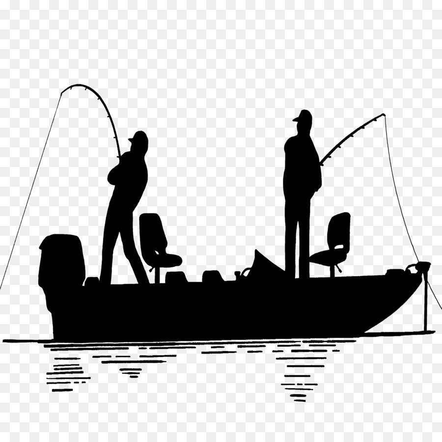 Download Silhouette Fishing Boat Clipart Black And White Rectangle Circle