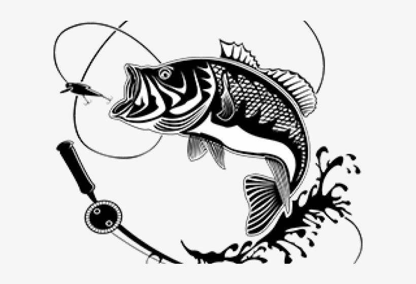Bass fishing clipart clip art stock Carp Clipart Largemouth Bass - Fish With Hook Silhouette Transparent ... clip art stock