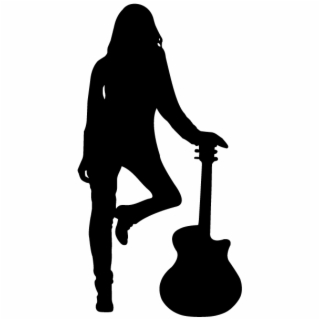 Bass guitar girl silhouette clipart svg royalty free Free Silhouette PNG Images & Cliparts - Pngtube svg royalty free