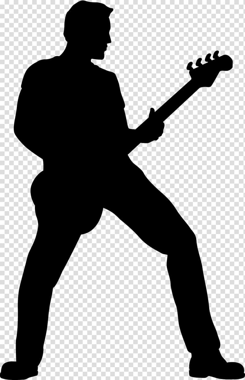 Bass guitar girl silhouette clipart vector transparent stock Guitarist Silhouette , band transparent background PNG clipart ... vector transparent stock