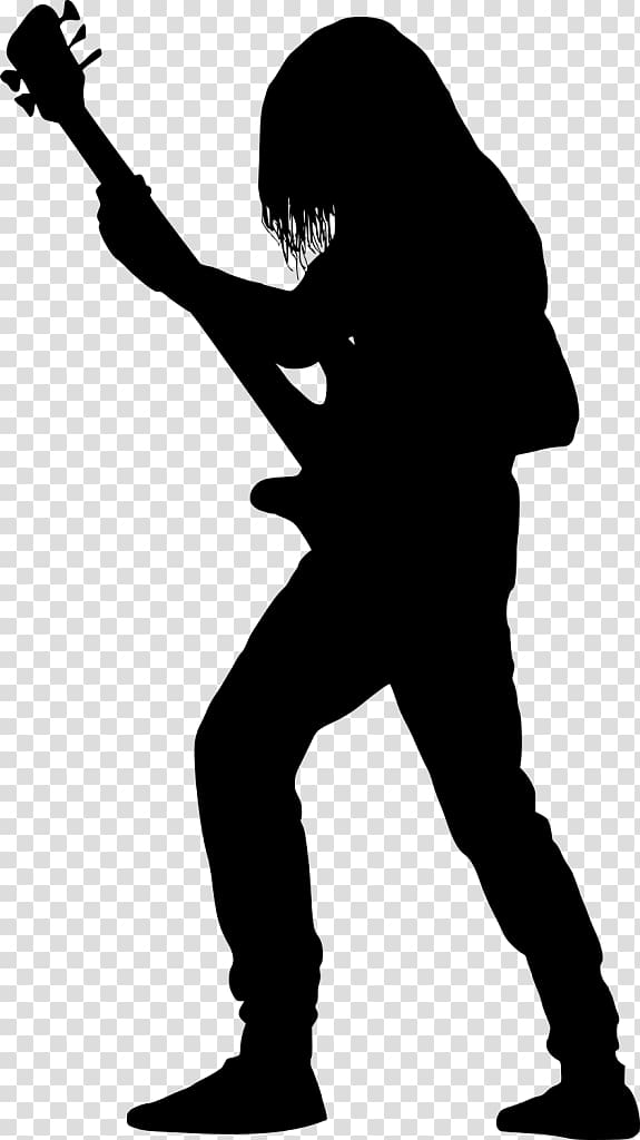 Bass guitar girl silhouette clipart png royalty free download Man playing electric guitar , Guitarist Silhouette Bass guitar ... png royalty free download