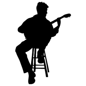 Bass guitar girl silhouette clipart vector black and white library Guitar Player Clipart | Free download best Guitar Player Clipart on ... vector black and white library