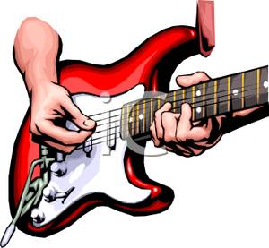 Bass guitar player free clipart image library Hands Playing an Electric Guitar - Royalty Free Clipart Picture image library