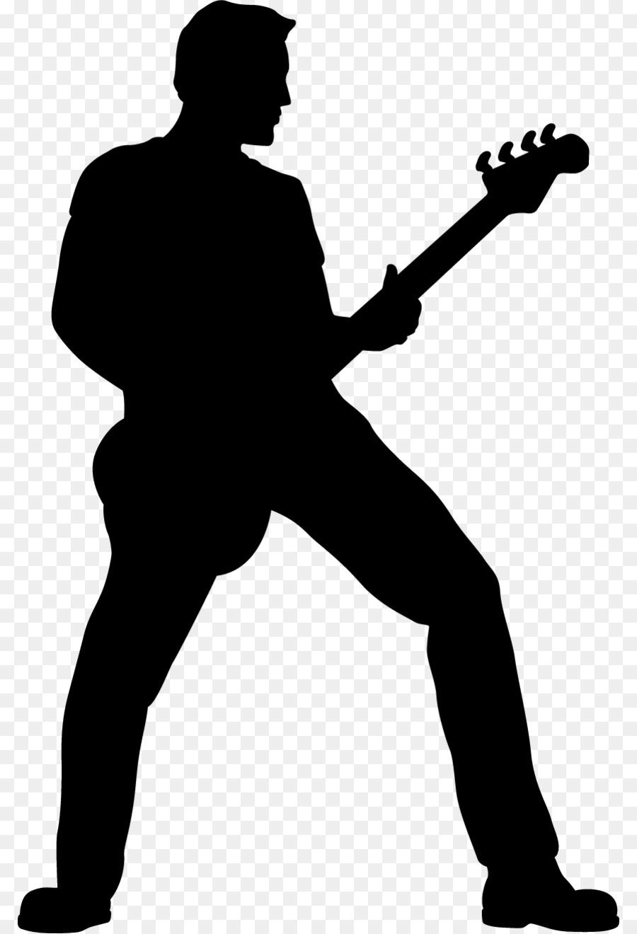 Bass guitar player free clipart svg transparent Bass guitar Silhouette Double bass Clip art - Bass Guitar Clipart ... svg transparent