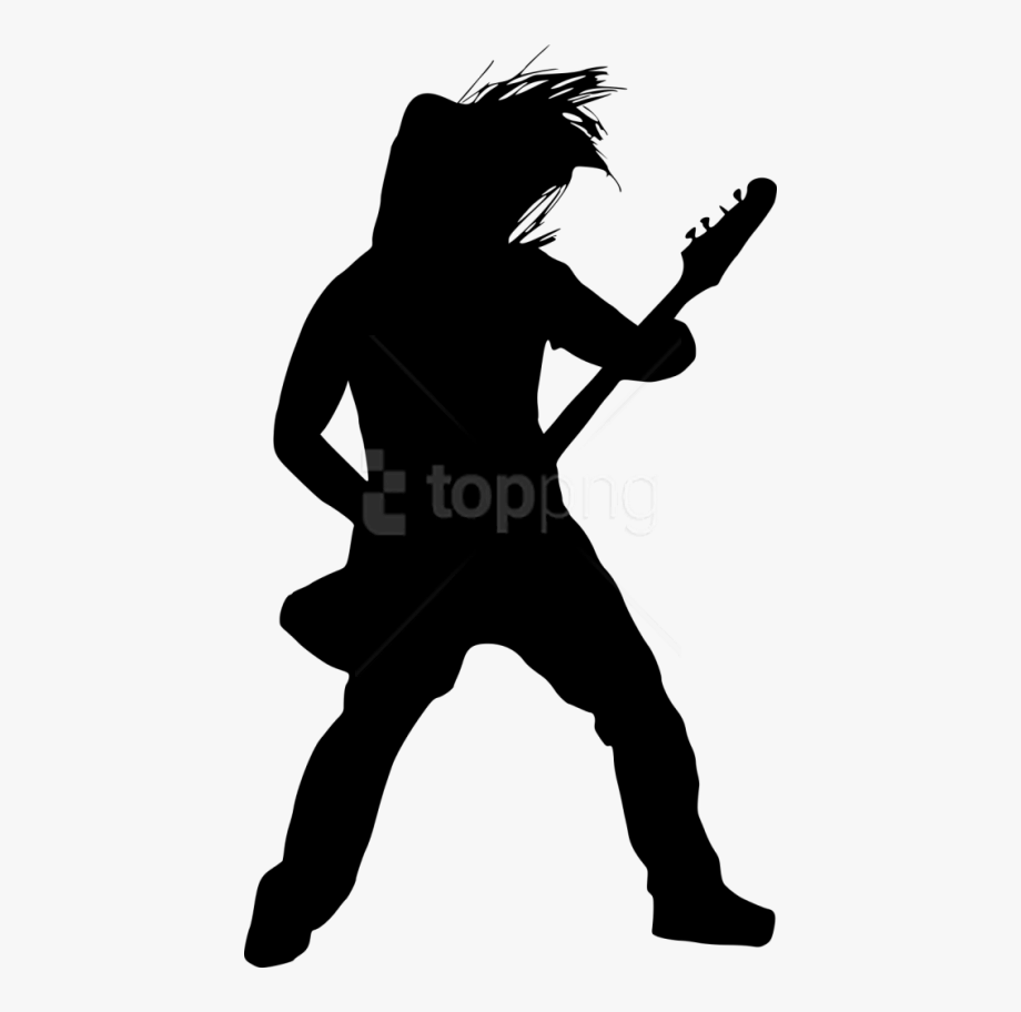 Bass guitar player free clipart clip art free stock Guitar Player Png - Guitarist Silhouette Png #2051174 - Free ... clip art free stock
