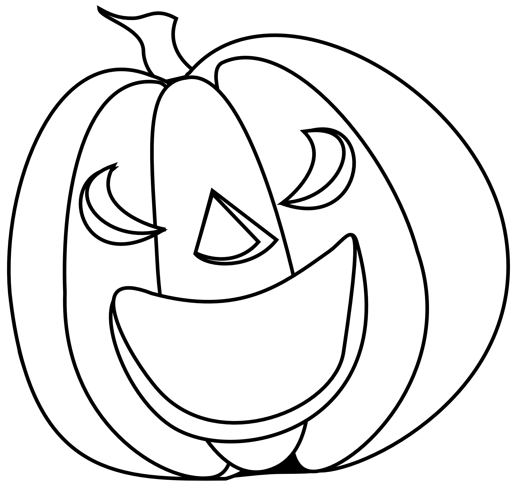 Easy spooky pumpkin clipart black and white.  collection of halloween