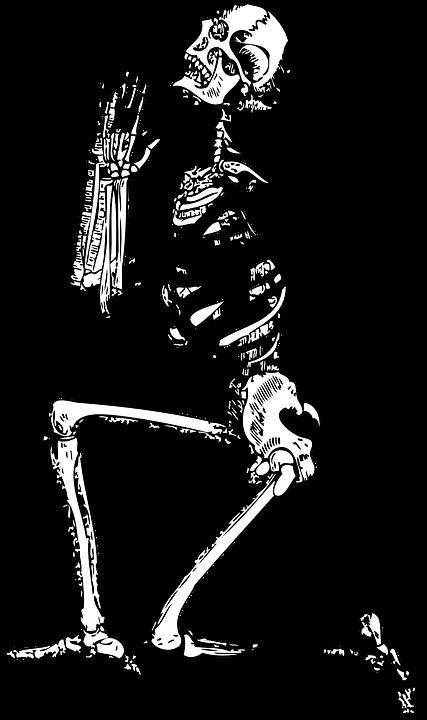 Skeleton cat clipart picture freeuse Free Image on Pixabay - Skeleton, Pray, Man, Religion, God ... picture freeuse