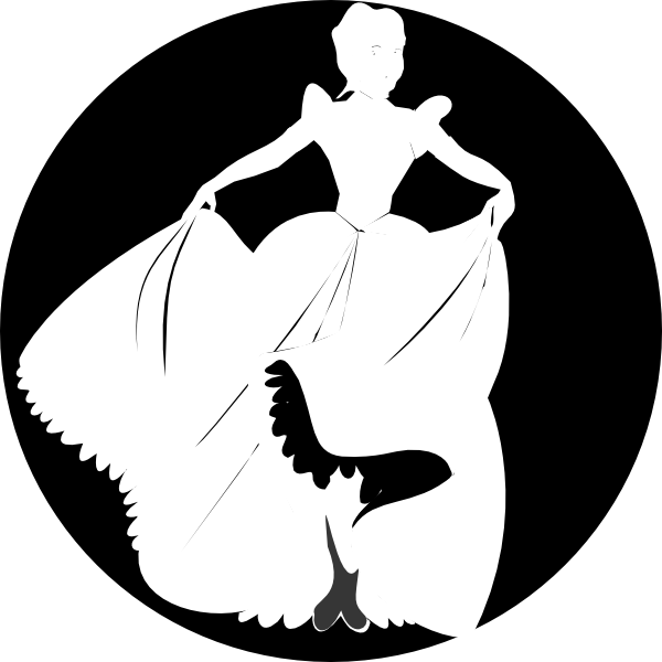 Black and white princess crown clipart picture black and white library White Princess Silhouette In Black Background Clip Art Pictures ... picture black and white library