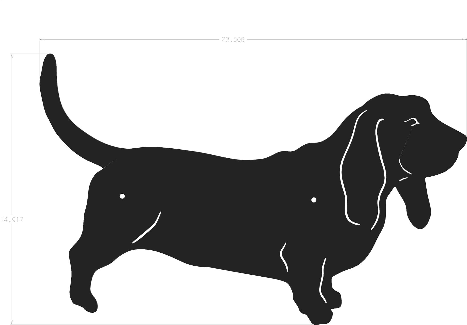 Basset hound silhouette clipart png royalty free library Silhouette - Basset Hound png royalty free library