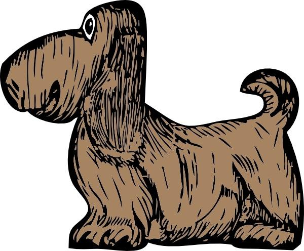 Basset hound clipart free download image black and white Basset Hound clip art Free vector in Open office drawing svg ( .svg ... image black and white