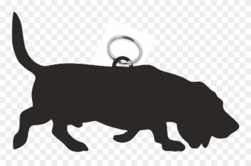 Basset hound silhouette clipart image library library Basset Hound Key Ring Fob - Silhouette Basset Clipart (#879800 ... image library library