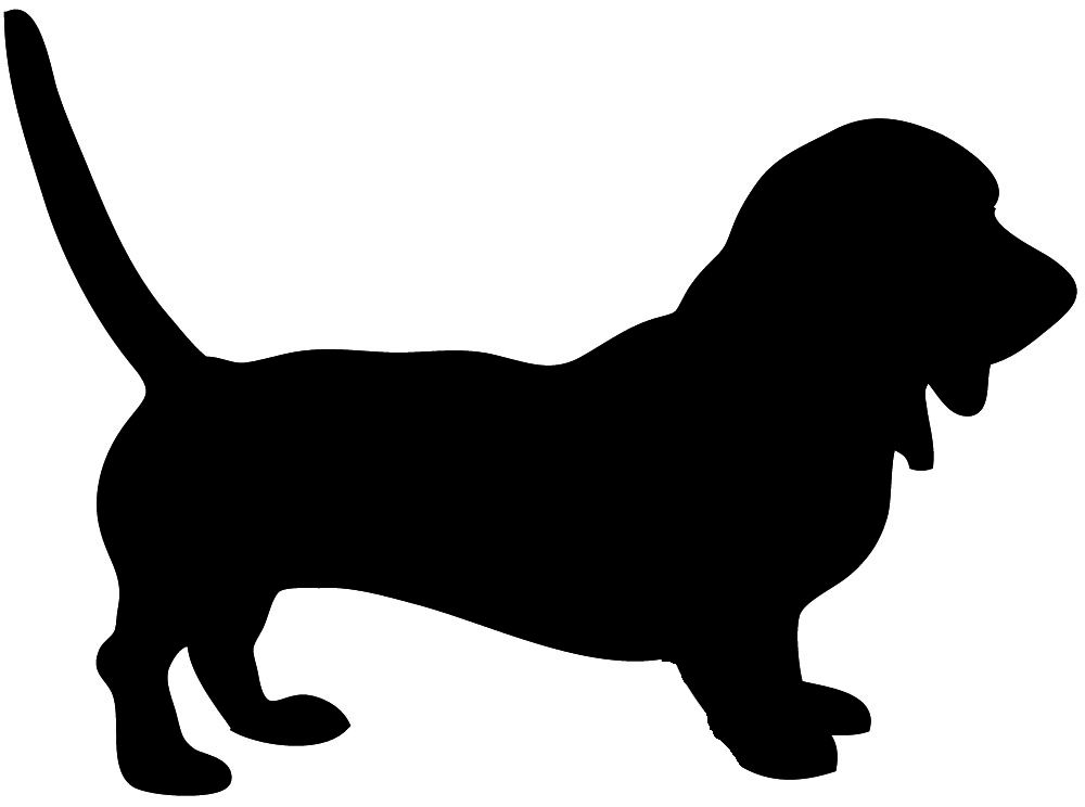 Basset hound silhouette clipart clip royalty free library This page Dog Silhouette has lots of black and white silhouette ... clip royalty free library