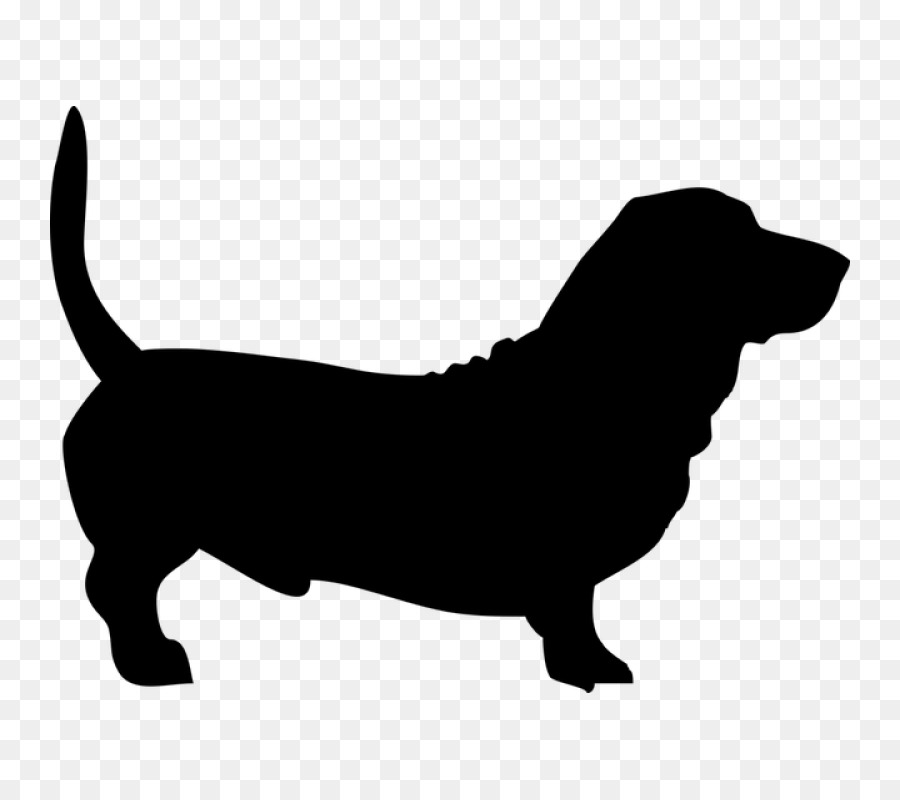Basset hound silhouette clipart graphic transparent stock Dog Silhouette clipart - Puppy, Pet, Dog, transparent clip art graphic transparent stock