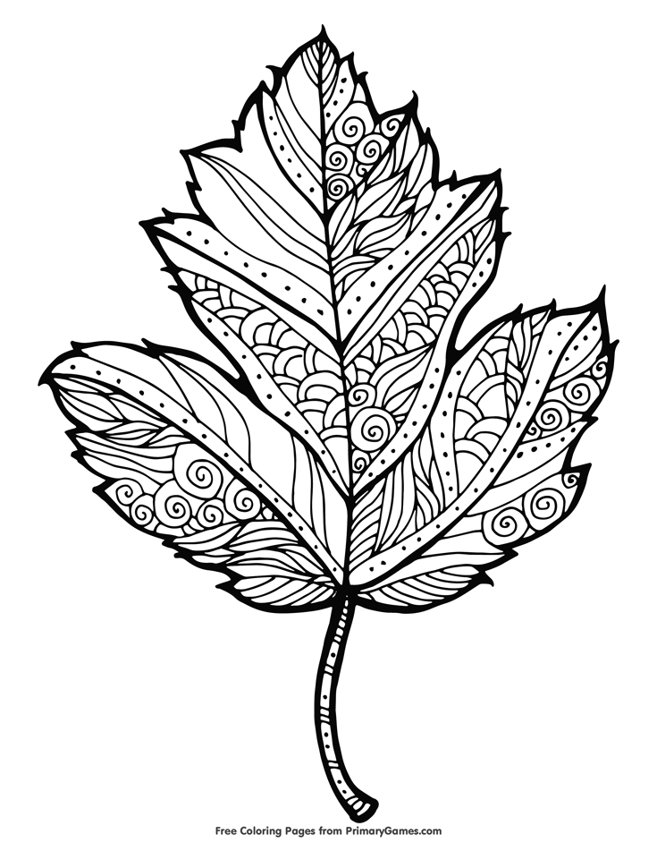 Basswood leaf clipart abstract coloring clip black and white stock Fall Coloring Pages eBook: Maple Leaf | Fall | Fall coloring pages ... clip black and white stock