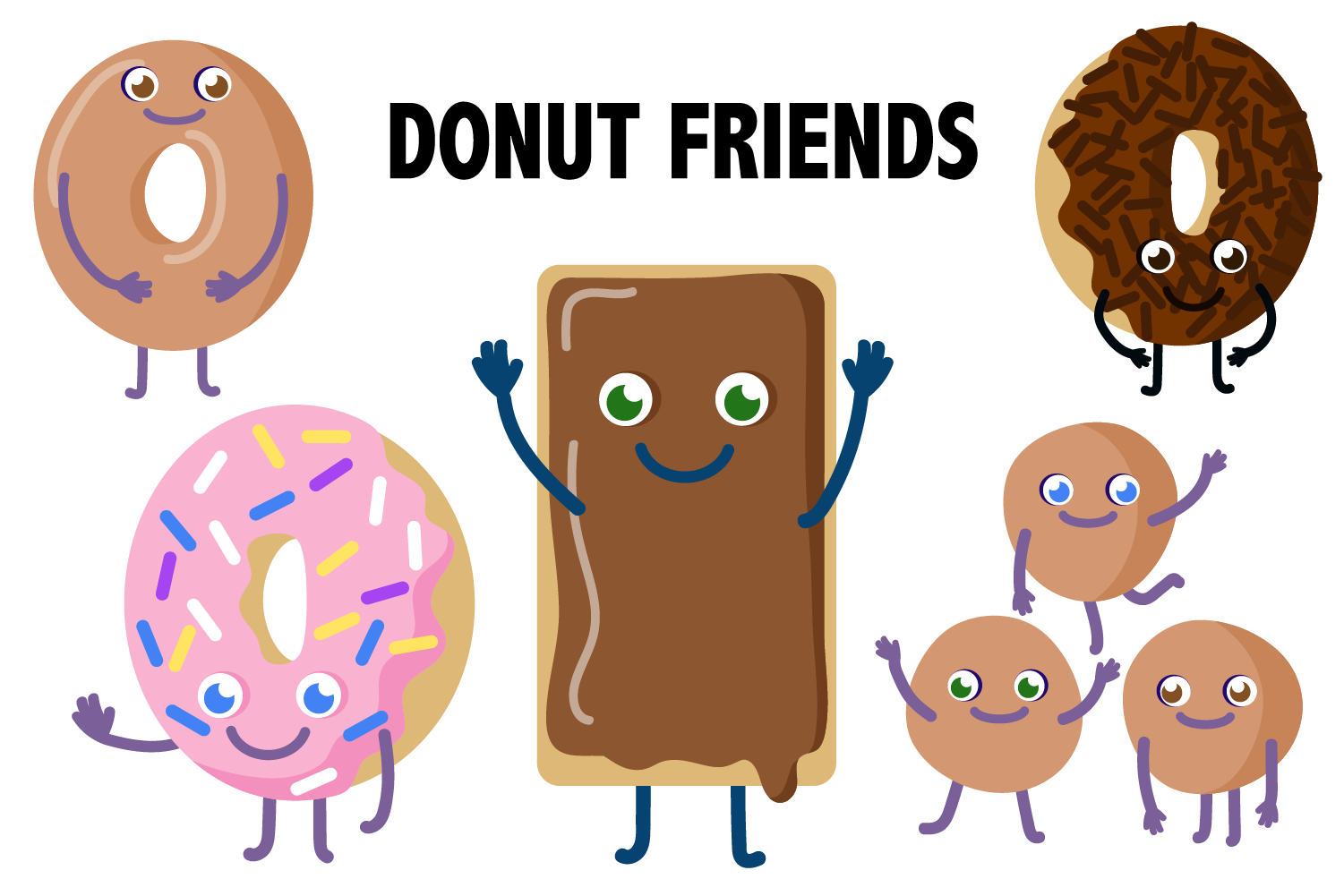 Baste clipart png royalty free library Donut Friends Clipart in 2019 | KITCHEN, COOKING & FOOD | Donut ... png royalty free library