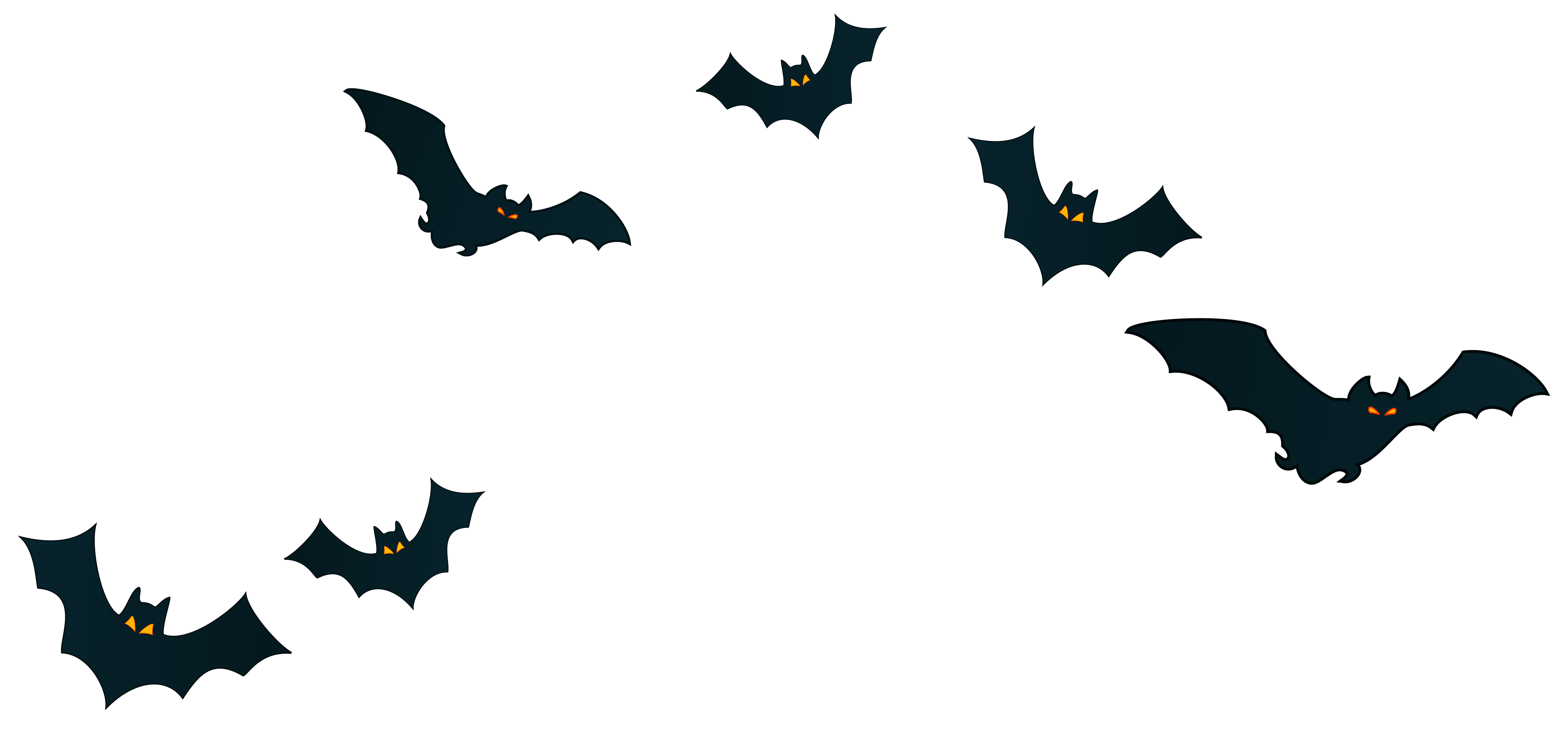 Bats clipart halloween svg royalty free download Halloween Bats Decor PNG Clipart Image | Gallery Yopriceville ... svg royalty free download