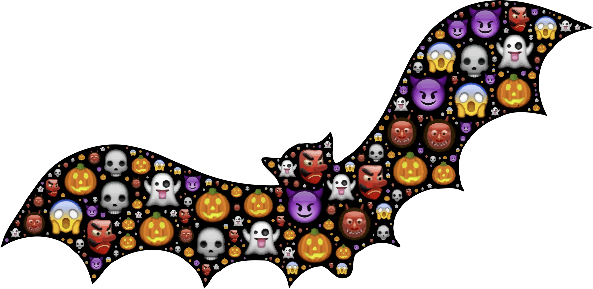Colorful halloween clipart svg royalty free Colorful Halloween Bat Icons PNG - Free PNG and Icons Downloads svg royalty free