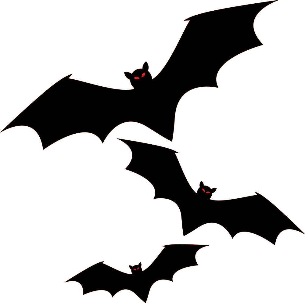 Clipart bats halloween clip black and white stock Bat Halloween Png Clipart Collection Png - 3925 - TransparentPNG clip black and white stock
