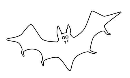 Bat clipart outline clipart black and white library Bat Clipart Outline | salaharness.org clipart black and white library