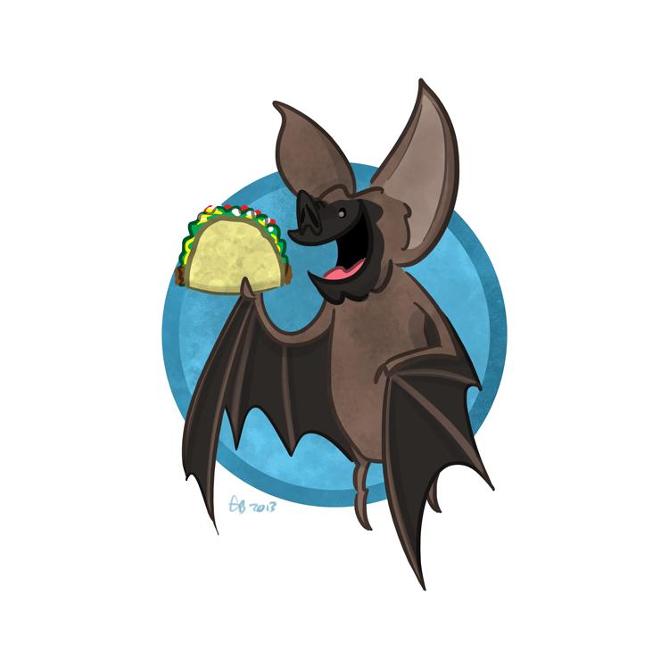 Bat eating bat clipart clip free stock 341 – Taco-Eating Bat. Details | awesome shstart clip free stock