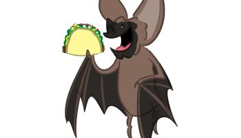 Bat eating bat clipart clip black and white stock 342 – Bat-Eating Taco | awesome shstart clip black and white stock