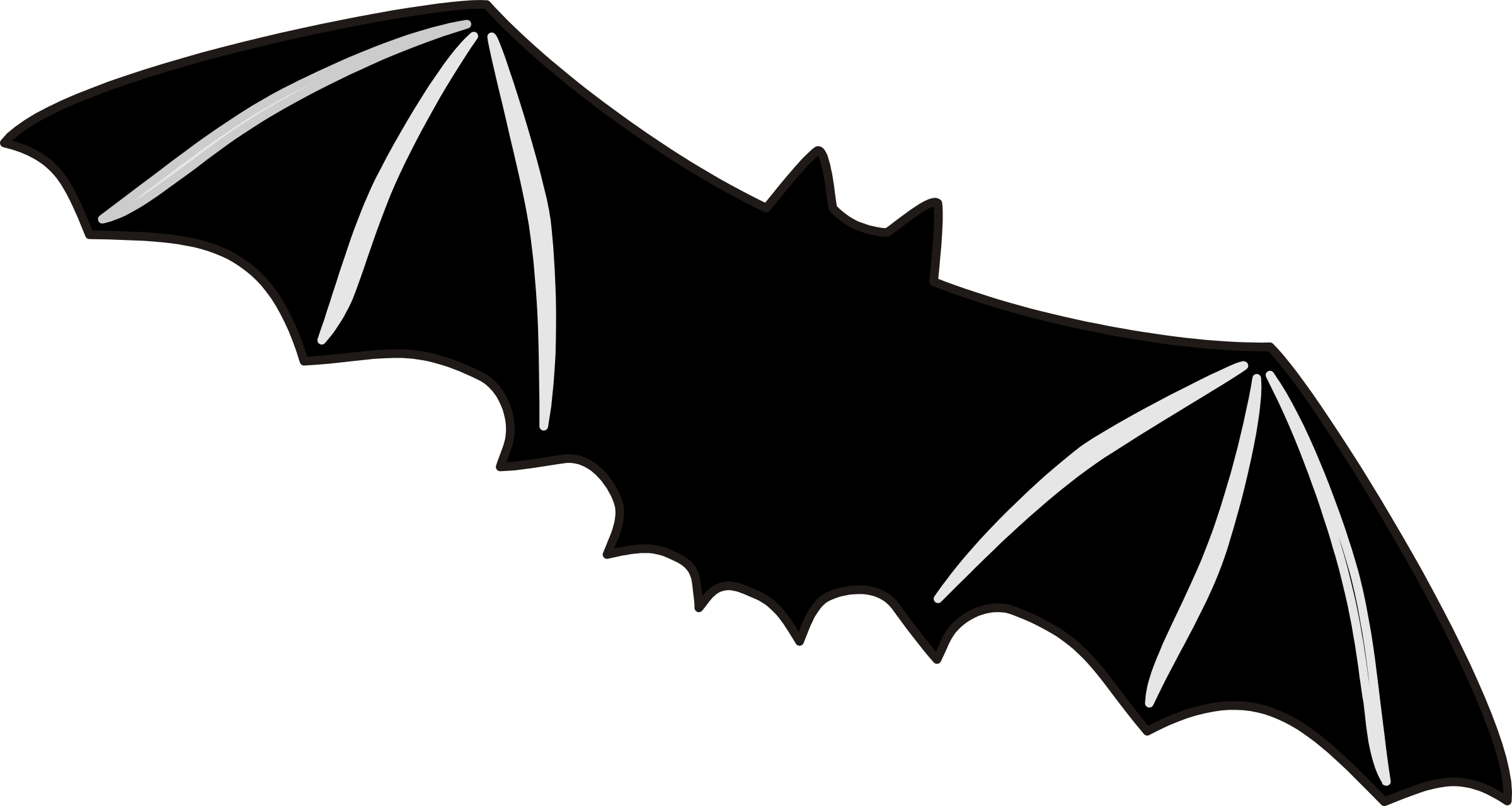 Clipart halloween bat banner freeuse Clipart - Bat banner freeuse