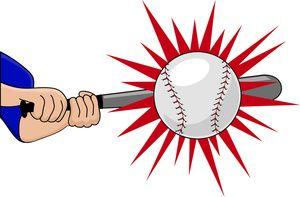 Bat hitting a baseball clipart png royalty free stock Batting Clipart Image: Batter Hitting the Baseball with His Bat for ... png royalty free stock
