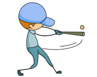 Bat hitting a baseball clipart picture black and white library Search Results for Baseball Clipart sports - Clip Art - Pictures ... picture black and white library