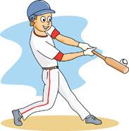 Beisvol clipart banner royalty free library baseball player at bat hitting | Clipart Panda - Free Clipart Images banner royalty free library